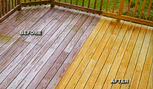 wood deck before and after ipe oil