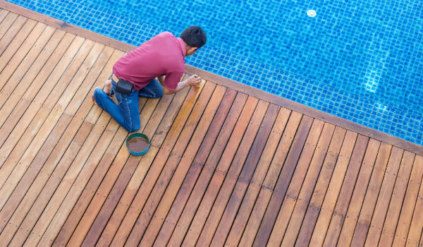 how to clean ipe deck